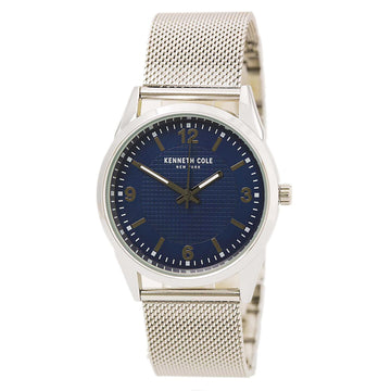 Kenneth Cole 10030779 Men's Steel Mesh Bracelet Quartz Classic Blue Watch