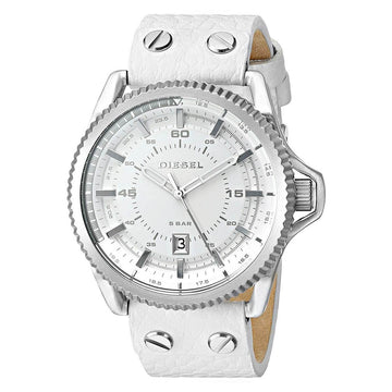Diesel DZ1755 Rollcage White Dial Men's White Strap Watch