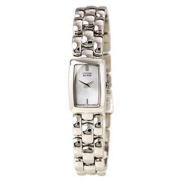Citizen EG2900-59A Women's Jolie Silver Dial Eco-Drive Steel Bracelet Watch