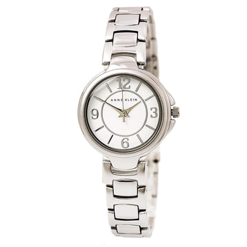 Anne Klein 2431WTSV Women's Quartz Steel Bracelet White Dial Watch