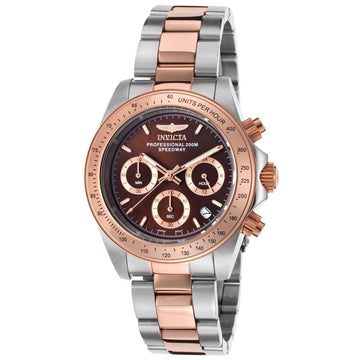 Invicta 17029 Men's Speedway Brown Dial Two Tone Steel Chronograph Dive Watch