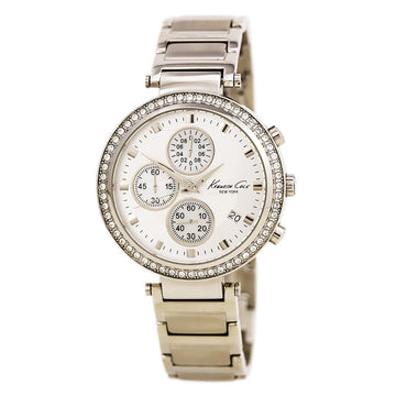Kenneth Cole KC4666 Women's Steel Bracelet Quartz Hampton Chrono Crystal