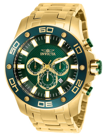 Invicta Men's Chronograph Watch - Pro Diver Quartz Green Dial | 26077