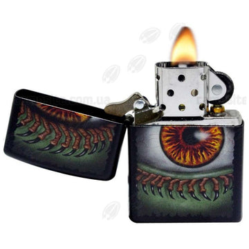 Zippo 28668 Black Matte Monster Eye Classic Windproof Pocket Lighter