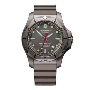 Victorinox Swiss Army Men's Strap Watch - I.N.O.X. Professional Diver Grey Rubber Swiss | 241810
