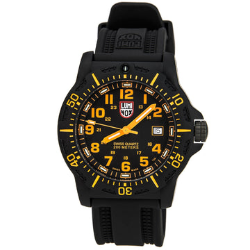 Luminox 8819.GG Men's Black Rubber Strap Swiss Land Black OPS Carbon 8800 Black Dial Date Watch