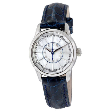 Hamilton H40311691 Women's Blue Strap Swiss American Classic Diamond Mother of Pearl Dial Watch