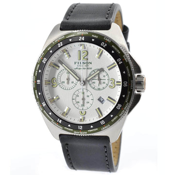Filson 10000321 Journeyman Men's White Dial GMT Chrono Watch