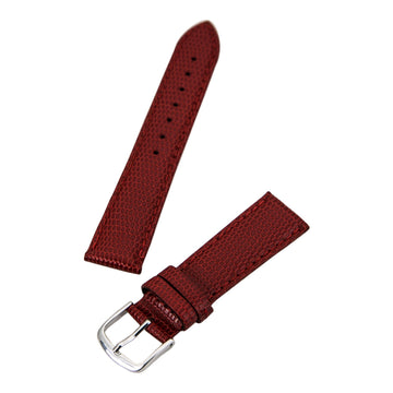 Hadley Roma Red 18 mm Wide Java Lizard Grain Leather Strap