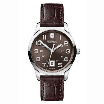 Swiss Army 241323 Men's Classic Alliance Swiss Brown Leather Strap Brown Dial Watch