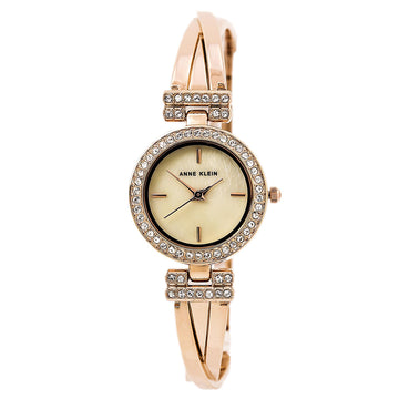 Anne Klein 2238RGST Women's Quartz Swarovski Crystal Mother of Pearl Dial Bangle Bracelet Watch Set