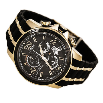 Citizen Men's Eco Drive Watch - Chrono-Time A-T Limited Edition Black Dial Dive