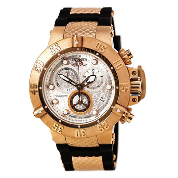 Invicta Men's Chronograph Watch - Subaqua Noma III Swiss Quartz Silver Dial | 15808