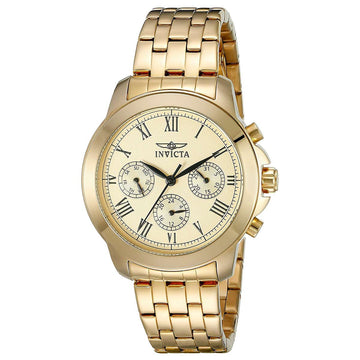Invicta 21654 Women's Specialty Gold Tone Dial Yellow Gold Steel Bracelet Watch