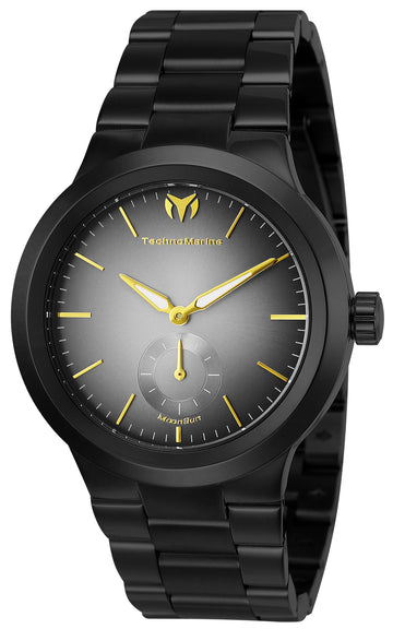 Technomarine Men's Bracelet Watch - Moonsun Grey Dial Black IP Steel | TM-117024