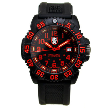 Luminox 3065 Men's Black Rubber Strap Swiss Quartz EVO Navy SEAL Colormark Black Dial Date Watch