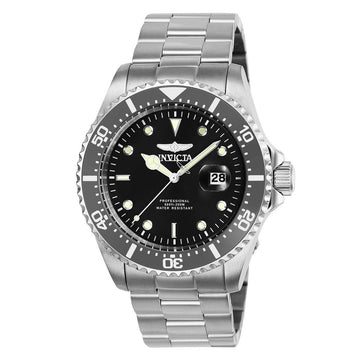 Invicta Men's Bracelet Watch - Pro Diver Charcoal Dial Stainless Steel | 25715