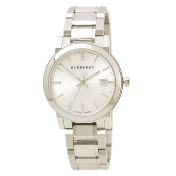 Burberry BU9000 Unisex Quartz Silver Check Dial Stainless Steel Bracelet Watch