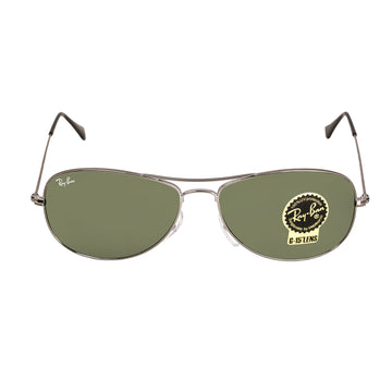 Ray-Ban RB 3362 004 56 Cockpit Gunmetal Metal Frame Green Classic G-15 Lenses Men's Sunglasses