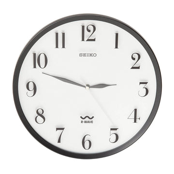 Seiko Wall Clock - R-Wave Atomic Radio Controlled Quartz | QXR131SLH