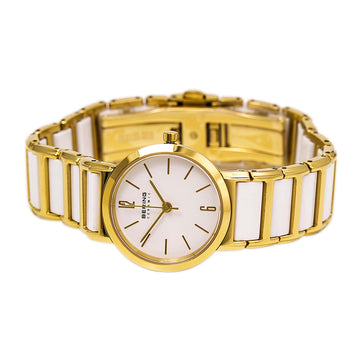 Bering 30226-751 Women's Ceramic Yellow Gold Steel & White Ceramic Bracelet Watch