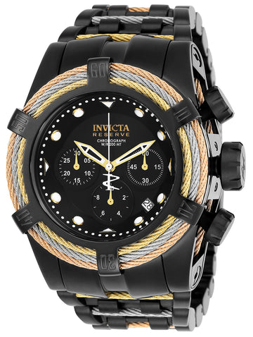 Invicta Men's Chronograph Watch - Bolt Zeus Reserve Black Dial Quartz Dive | 23050