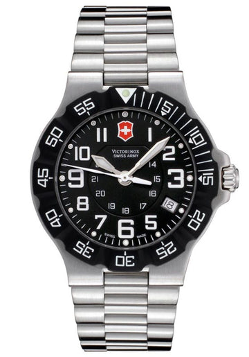 Swiss Army 241344 Men's Swiss Made Black Dial Stainless Steel Watch