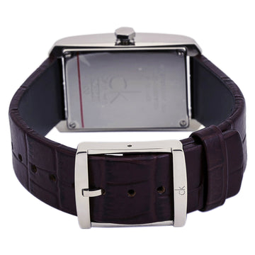 Calvin Klein K2M23126 Women's Window Silver Dial Brown Strap Watch