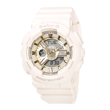 Casio Women's World Time Watch - Baby-G Ana-Digi Grey Dial Resin Strap | BA110GA-7A2