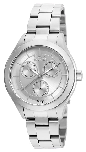 Invicta Women's Bracelet Watch - Angel Silver Tone Dial Stainless Steel | 21693