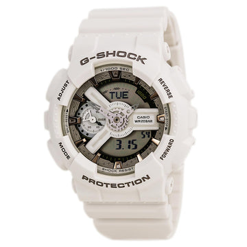 Casio Men's World Time Watch - G-Shock S Series Dive White Resin Band | GMAS110CM-7A2