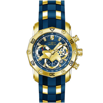 Invicta 22798 Men's Pro Diver Chronograph Blue Silicone & Steel Strap Watch