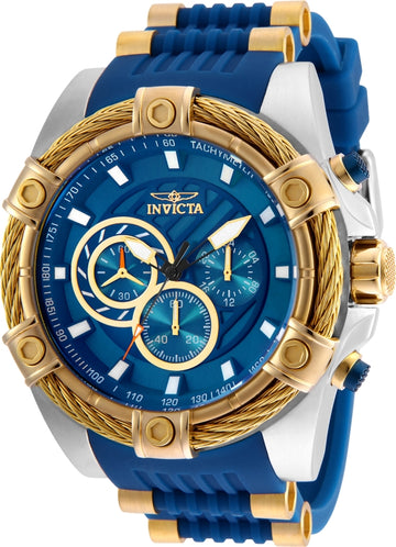 Invicta Men's Chronograph Watch - Bolt Blue Dial Quartz | 25529