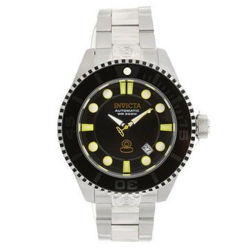 Invicta 19797 Men's Stainless Steel Bracelet Grand Diver Automatic Black Dial Date Watch