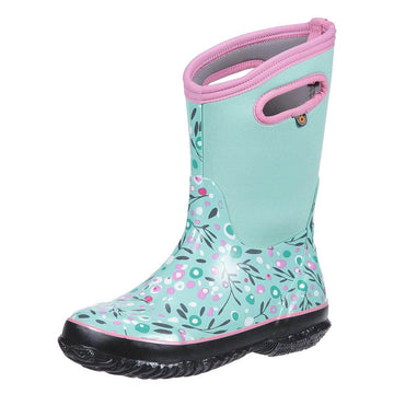 Bogs Girls Insulated Boots - Classic Cattail Mint Green Multi | 72277-332
