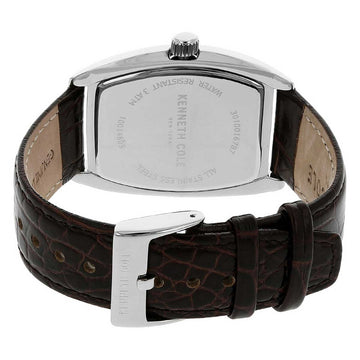 Kenneth Cole 10014805 Men's Rock Out Diamond Brown Dial Brown Croco Grain Leather Strap Watch