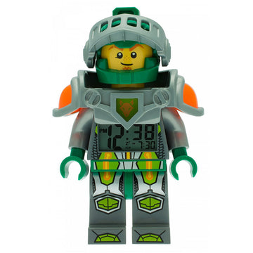 Lego 9009426 Nexo Knights Aaron Minifigure Digital Grey Dial Alarm Clock