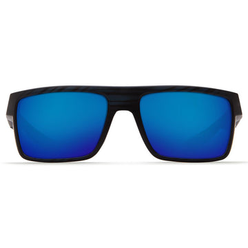 Costa Del Mar MTU111OBMGLP Men's Motu Polarized Glass 580G Blue Mirror Lens Matte Black Teak Frame Sunglasses