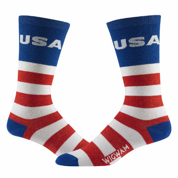 Wigwam Men's Socks - Victory Lightweight, Red, White And Blue | F5402
