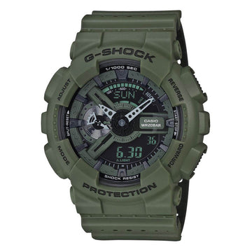 Casio GA110LP-3A Men's G-Shock Green & Black Ana-Digi Dial Green Resin Strap World Time Dive Watch