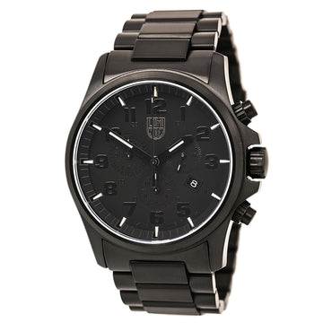 Luminox 1942.BOB Men's Black Steel Bracelet Swiss Land Atacama Field 1940 Black Dial Date Watch