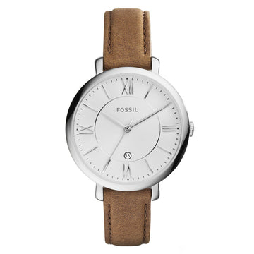 Fossil ES3708 Jacqueline Women's Brown Leather Strap Watch