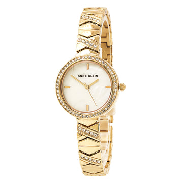 Anne Klein 1798MPRG Women's Quartz Rose Gold Bracelet Mother of Pearl Dial Swarovski Crystal Watch