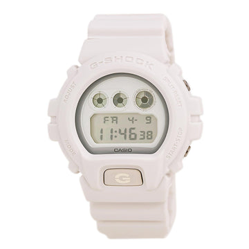 Casio DW6900WW-7 Men's G-Shock Alarm White Resin Strap Digital Grey Dial Dive Watch