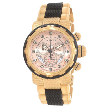 Invicta Men's Chronograph Watch - Reserve Yellow Steel & Black Polyurethane Bracelet