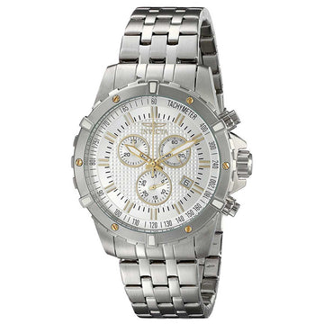 Invicta 17503 Men's Steel Bracelet Specialty Swiss Quartz Chrono Silver Dial Date Watch