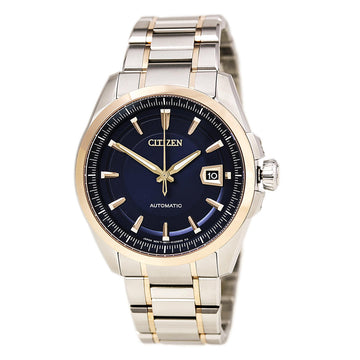 Citizen Men's Automatic Watch - Signature Grand Classic Blue Dial Two Tone Steel