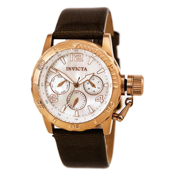 Invicta Women's MOP Dial Leather Strap Analog Watch - Corduba Quartz Day-Date | 14800