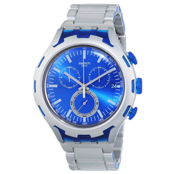 Swatch YYS4001AG Men's Xlite Endless Energy Chrono Blue Dial Aluminum & Resin Bracelet Watch