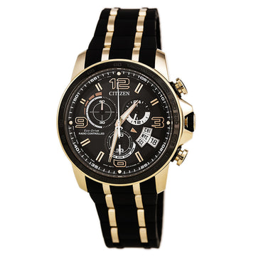 Citizen Herren Eco Drive Uhr - Chrono-Time AT Limited Edition Black Dial Dive